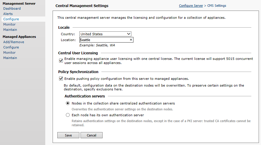 Enabling Central User Licensing