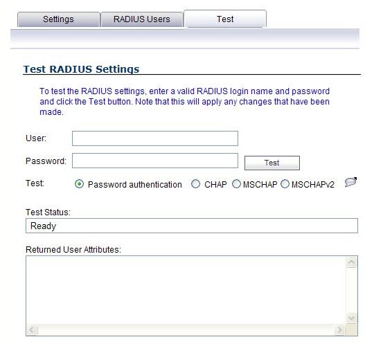 RADIUS Client Test