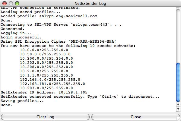 netextender for mac not working