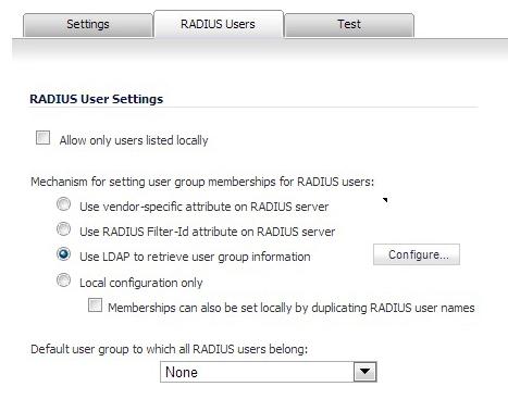 Configuring RADIUS Authentication