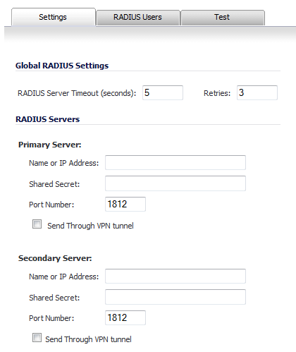 Configuring RADIUS Authentication