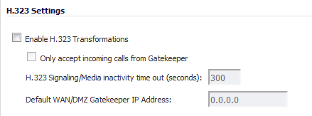VoIP > Settings: VoIP Configuration