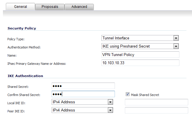 VPN policy 3 - No Vpn Policy For Peer Gateway