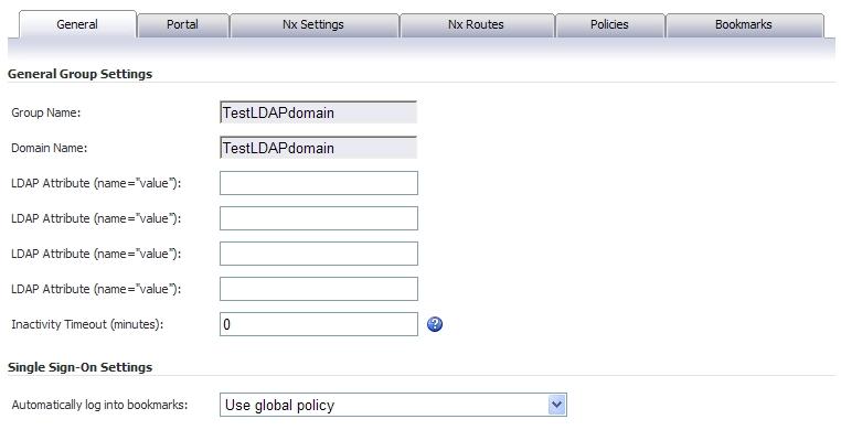 Group Configuration for LDAP Authentication Domains