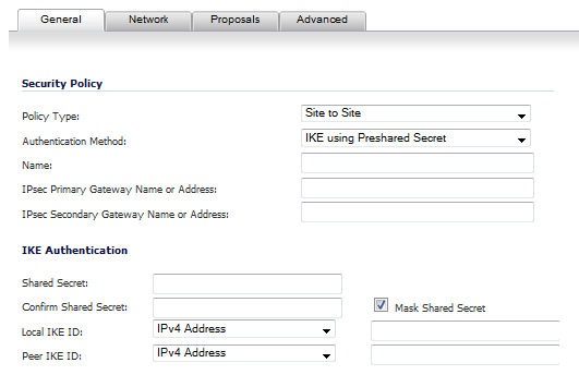 No Vpn Policy For Peer Gateway