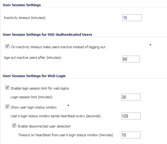 Configuring Settings on Users > Settings