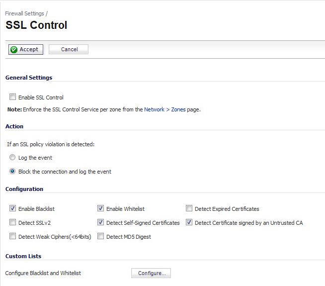 Ssl Control Configuration