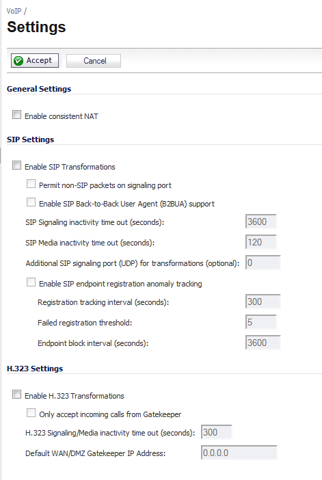 General VoIP Configuration